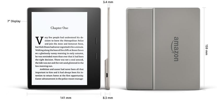 Dimensiones del Kindle Oasis