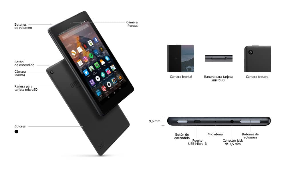 Dimensiones Kindle Fire 7